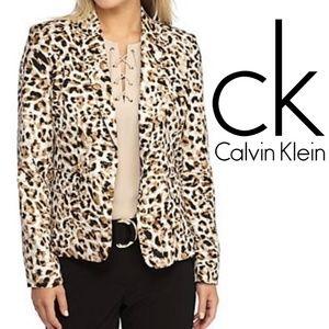 Calvin Klein Cheetah Print Blazer